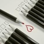 Bleistift Herz