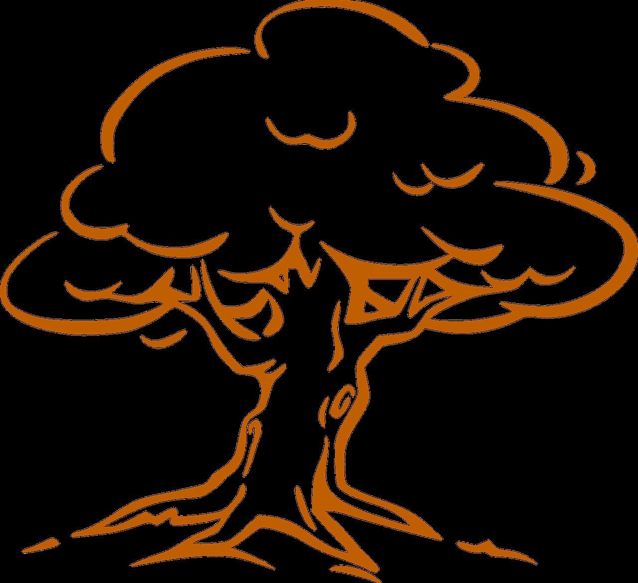 Kostenlose Bastelvorlage Baum 9